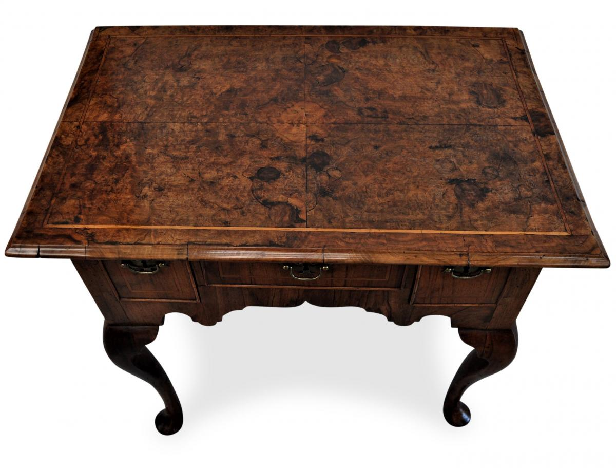 Burr Walnut Lowboy