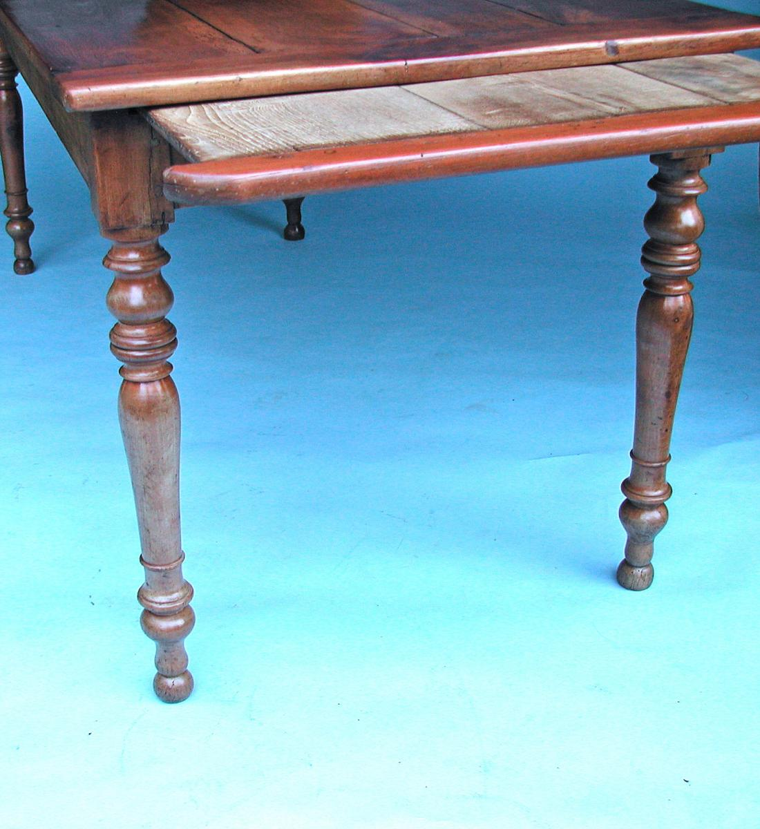 19thc Antique Fruitwood Farmhouse Kitchen Table. French. C1860-80 | BADA