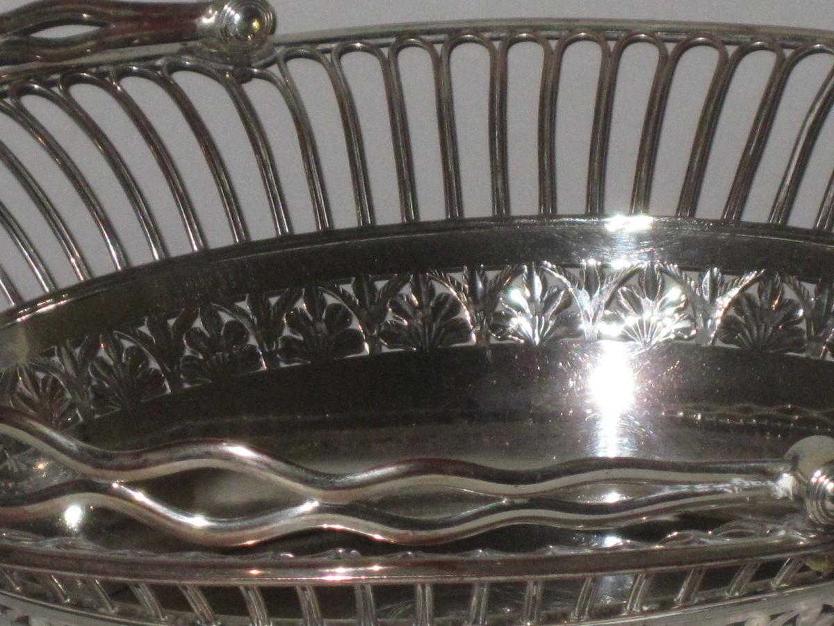 OLD SHEFFIELD PLATE SILVER FRUIT OR CAKE BASKET.CIRCA 1785