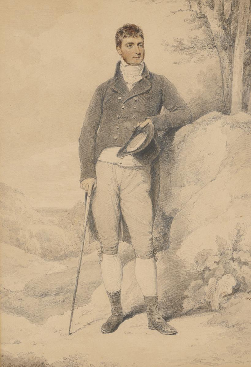 Portrait of William Edwardes, 2nd Baron Kensington by Henry Edridge, A.R.A. (1769-1821)
