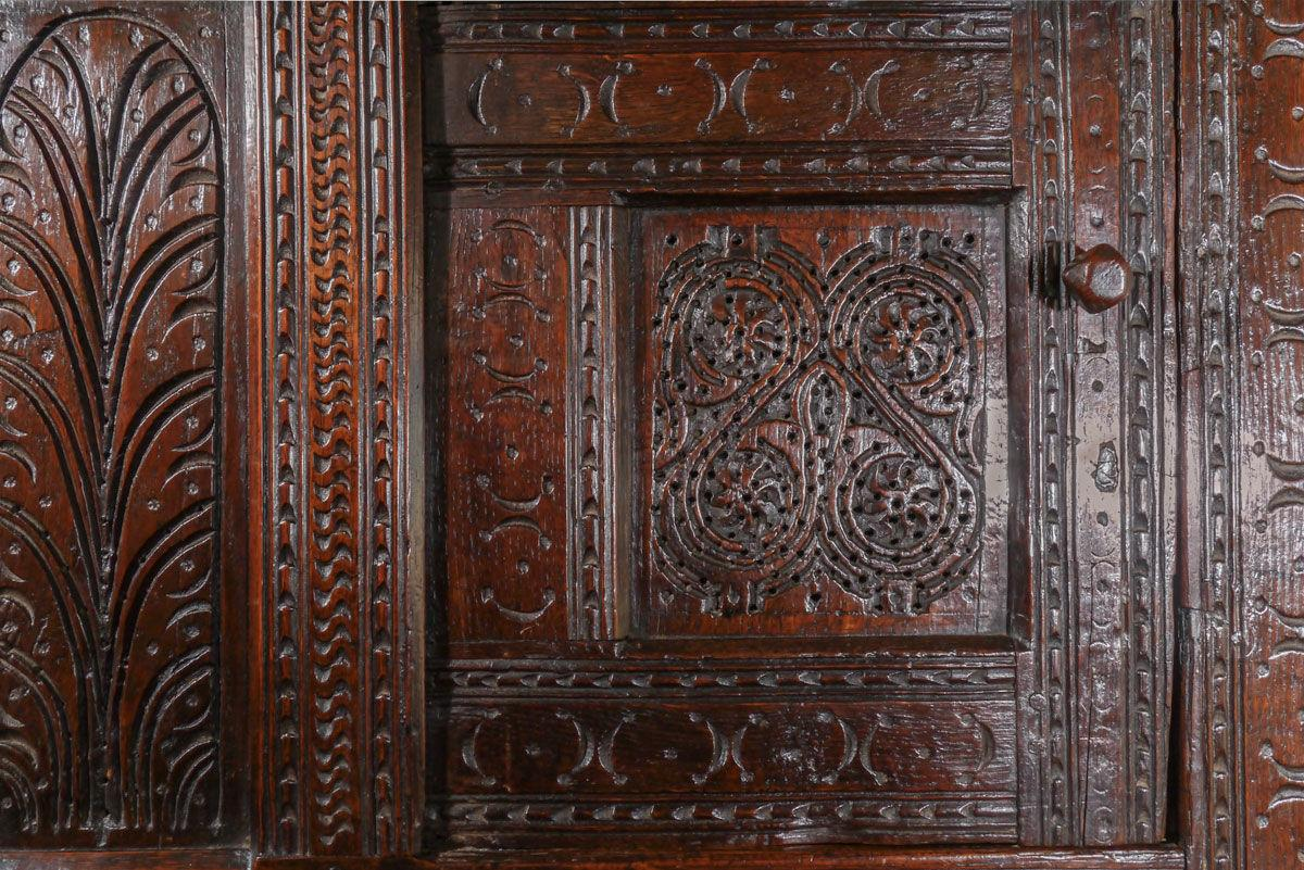 A Rare Charles I Dated Hanging Food Cupboard