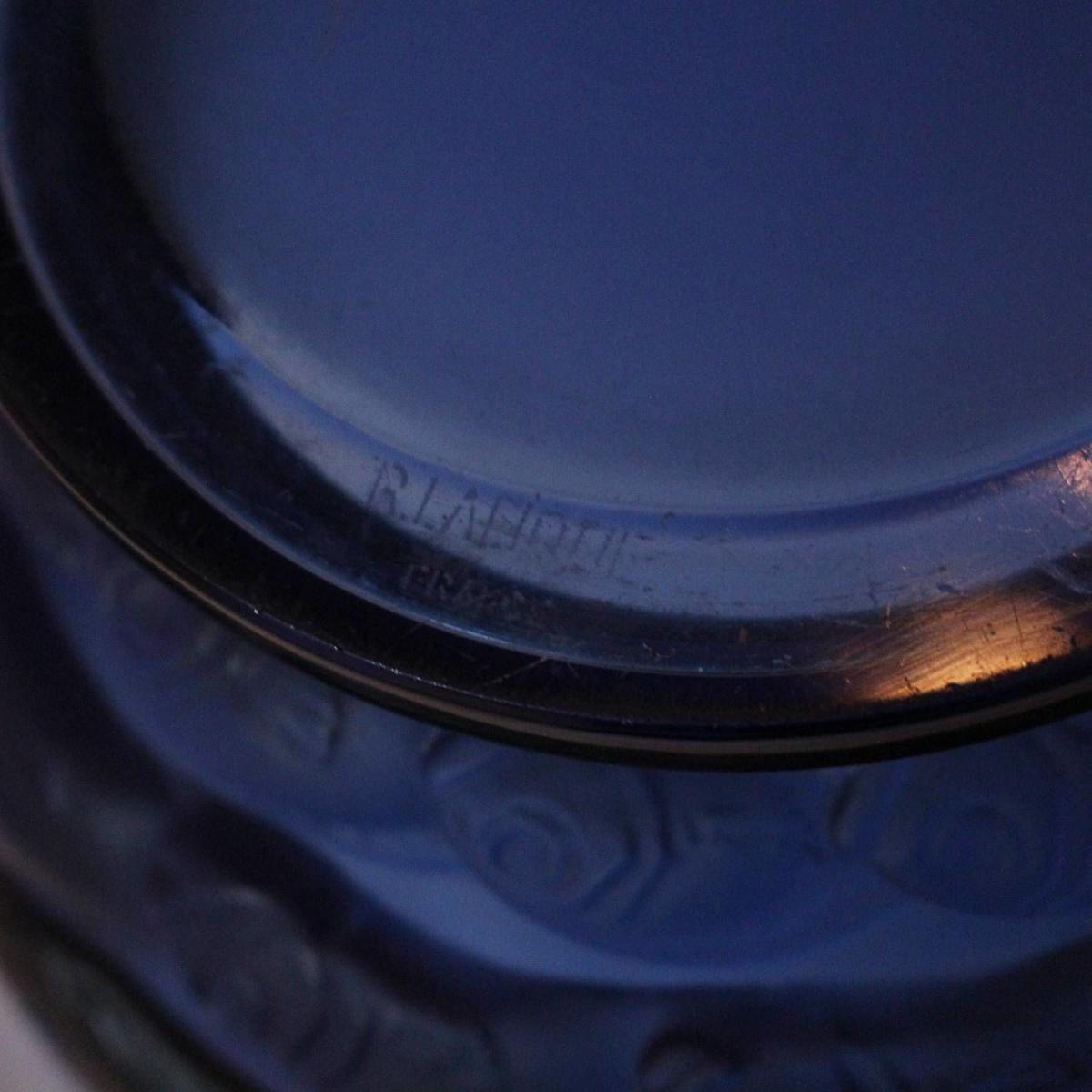 Rene Lalique Blue Monaco Vase