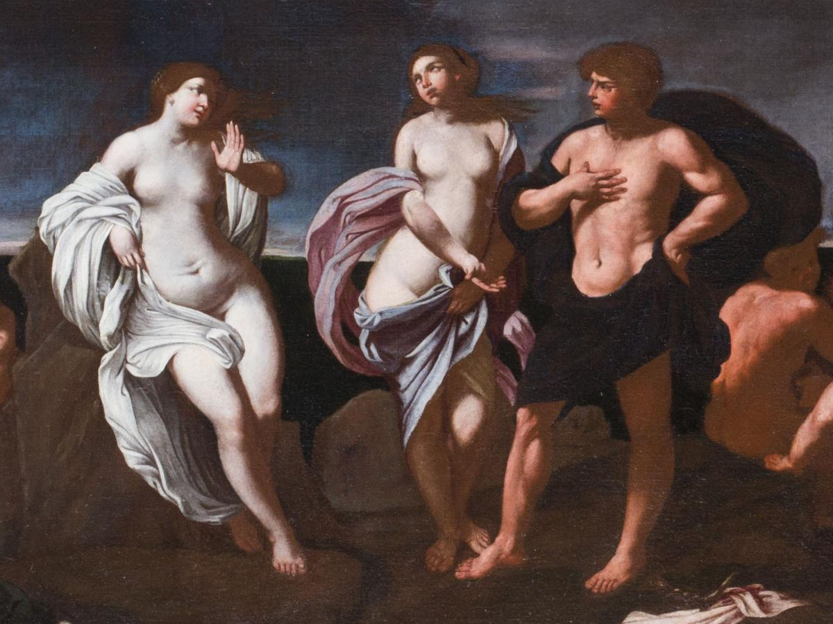 Bacchus and Ariadne on the Island of Naxos, by Giovanni Francesco Romanelli, 1642