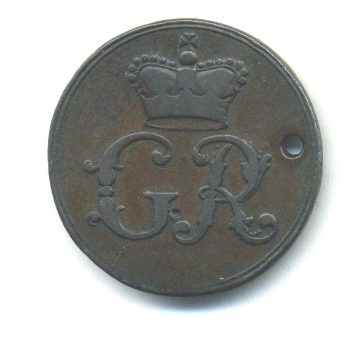 Chelsea, The King's Private Roads, bronze pass, 1731