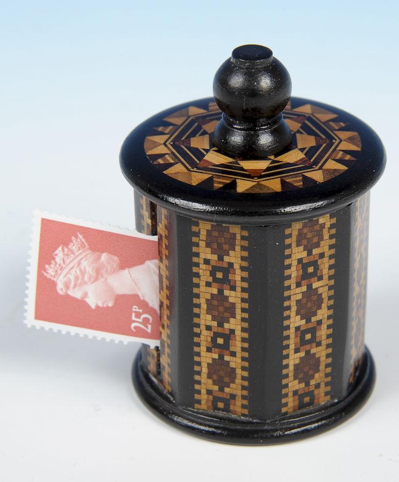 Tunbridge Ware Stamp Dispenser