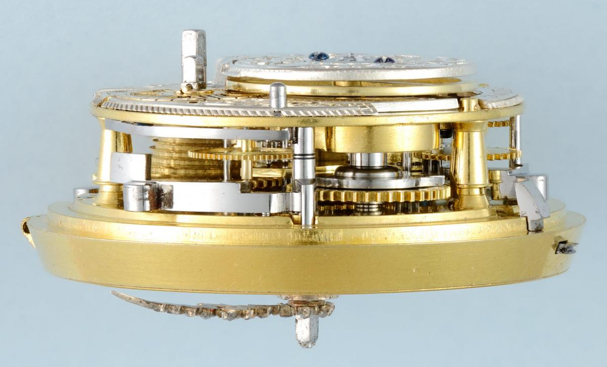 Gold and Enamel Quarter Repeater by Moser