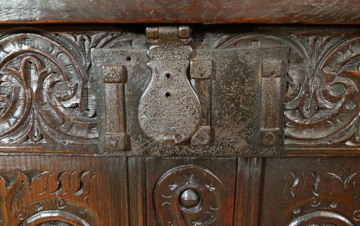 A Fine Charles I Oak Chest