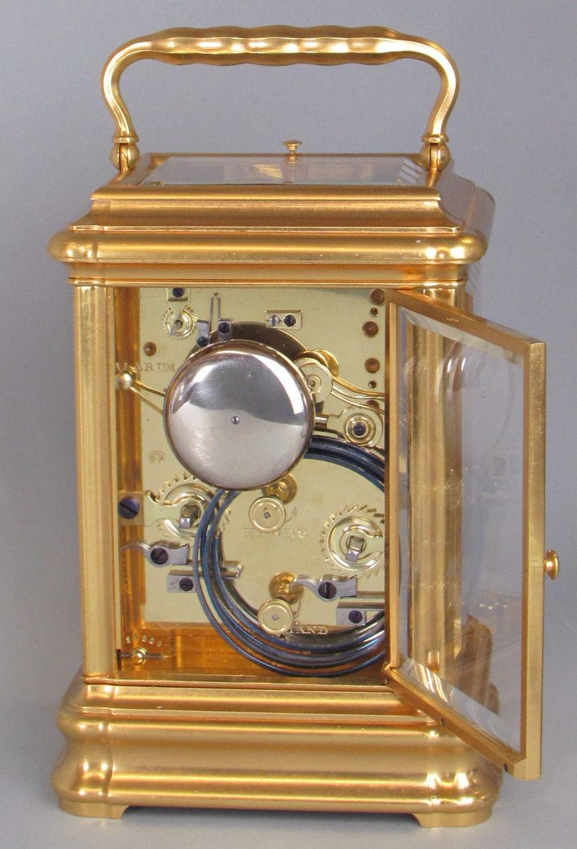 Drocourt Giant Grande-sonnerie carriage clock backplate