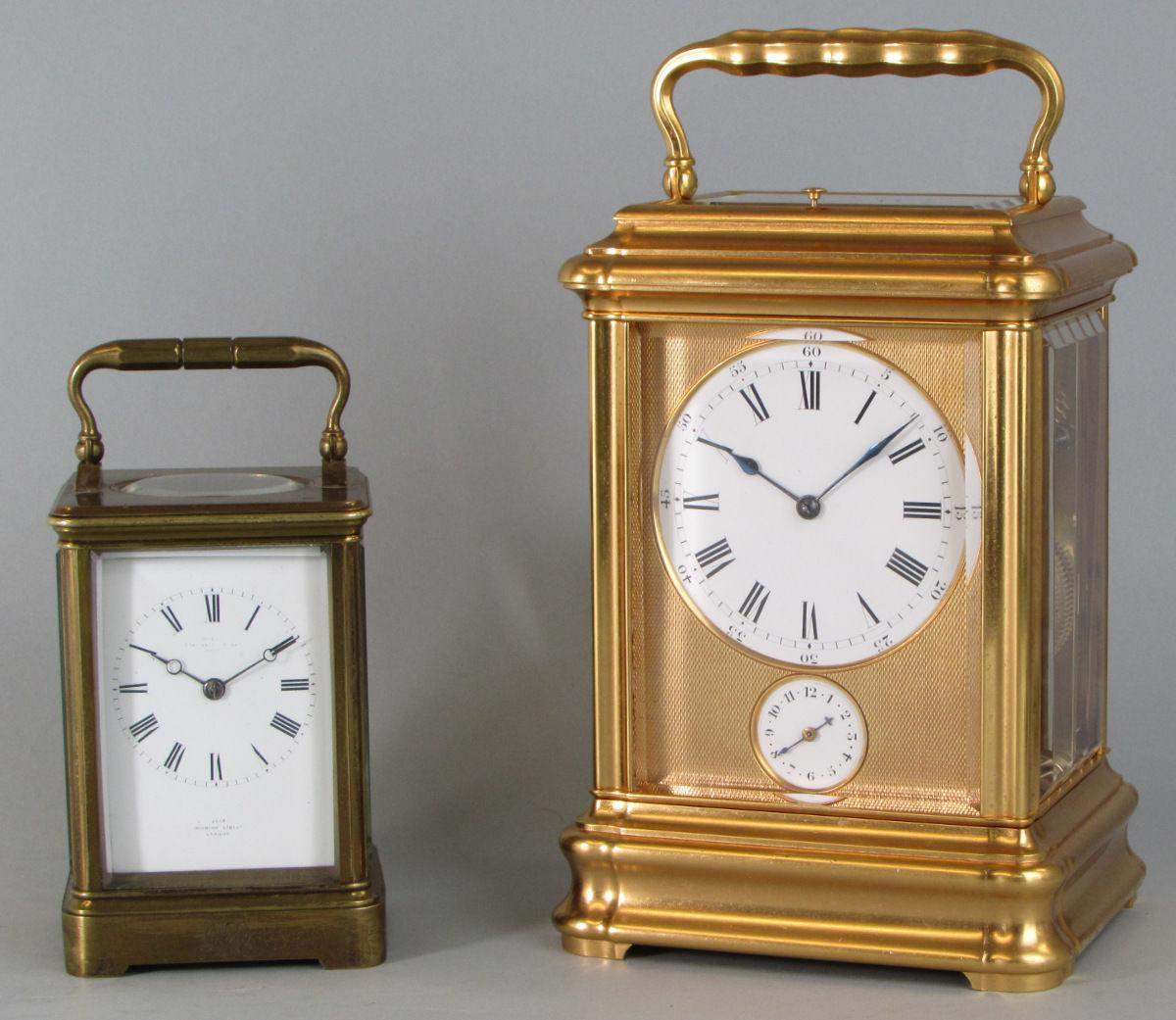 Drocourt Giant Grande-sonnerie carriage clock comparison