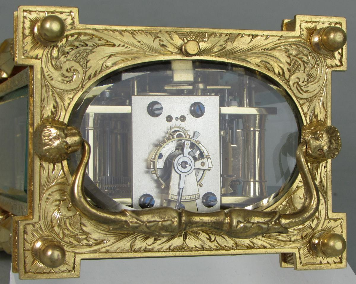 Drocourt Empire Style Carriage Clock escapement