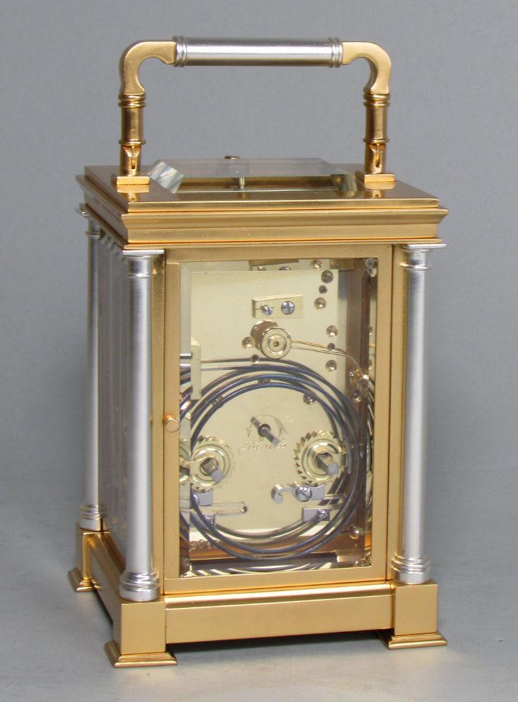 Delépine-Barrois striking carriage clock rear