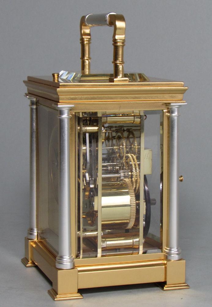 Delépine-Barrois striking carriage clock side
