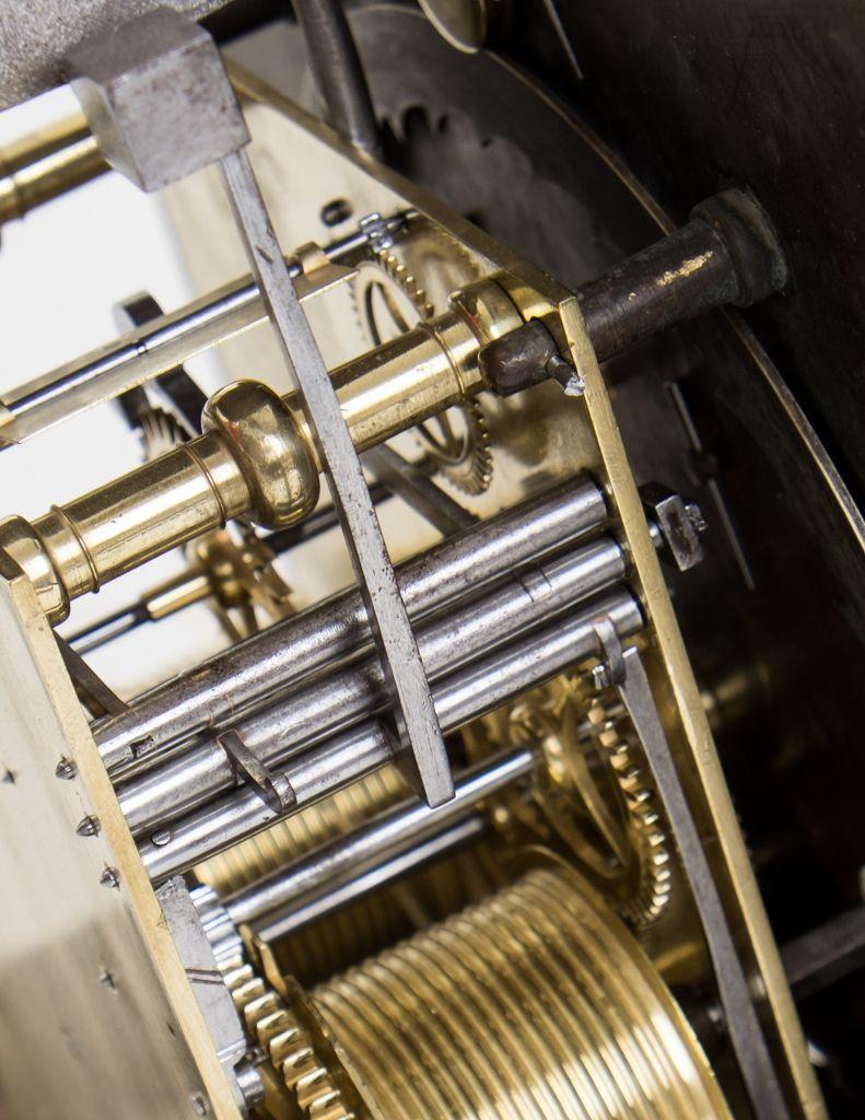 William Tomlinson Ebonised Longcase Clock movement