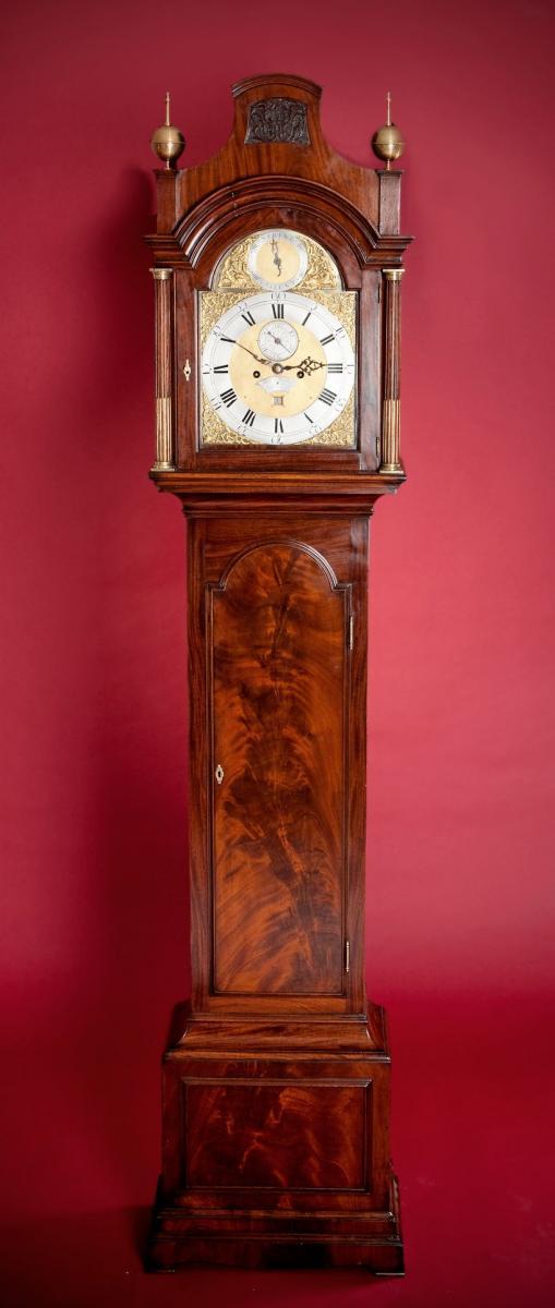 Thomas Battely London Mahognay Longcase Clock full