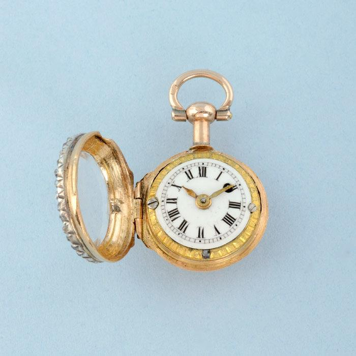 Gold Watch and Diamond Set Ring Mount