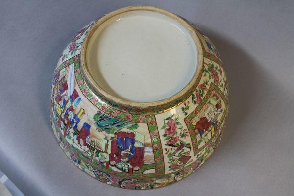 A small chinese canton bowl circa 1850