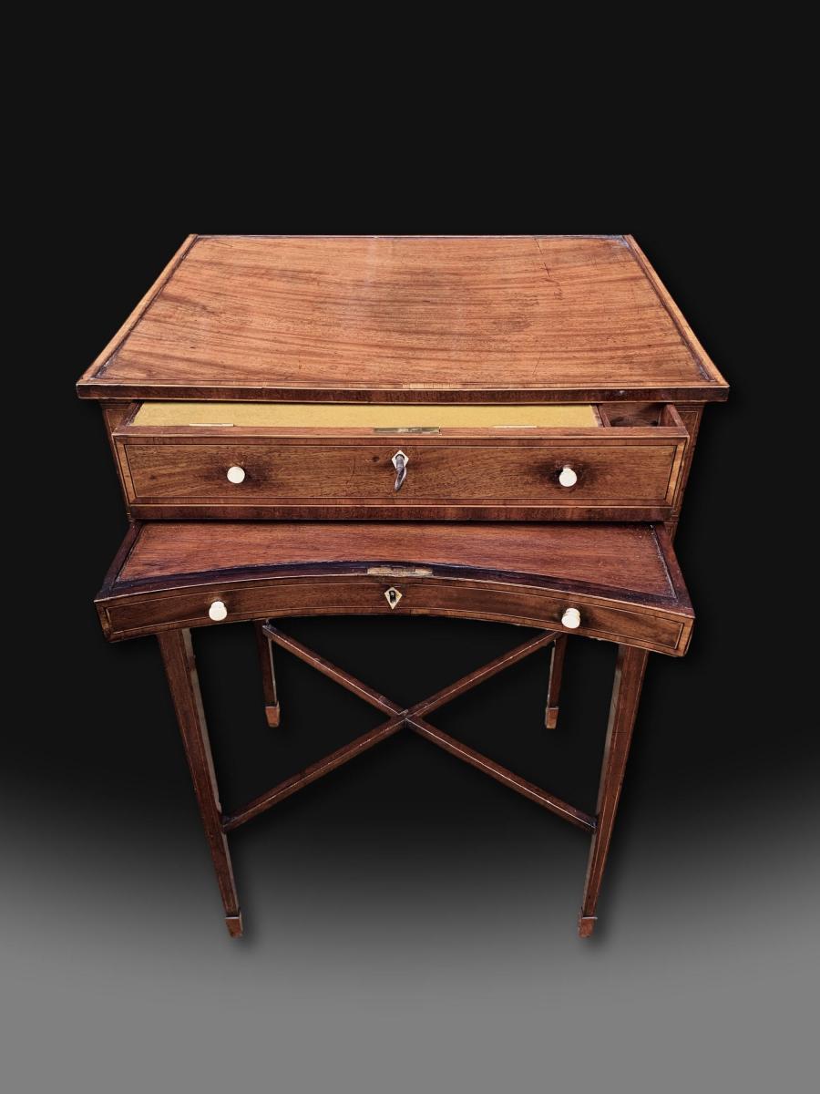 George III Mahogany Writing Table