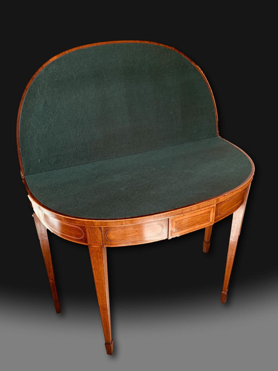 George III D-End Card Table