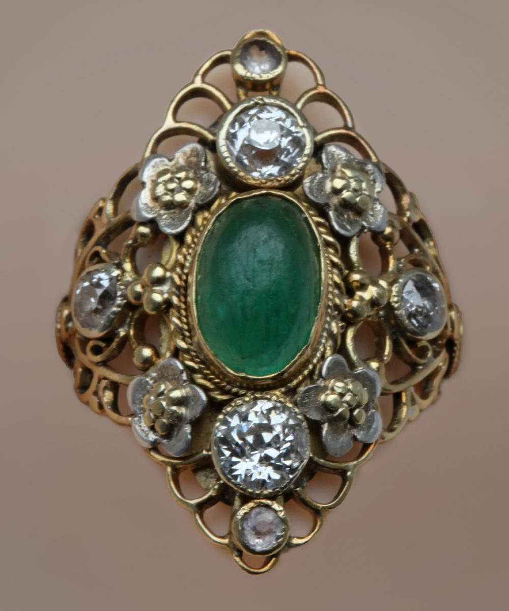 GEORGIE GASKIN (1866-1934) ARTHUR JOSEPH GASKIN (1862-1928) Superb Arts & Crafts Ring