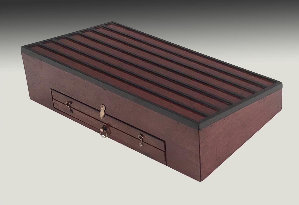 Regency mahogany boxed alphabet tiles