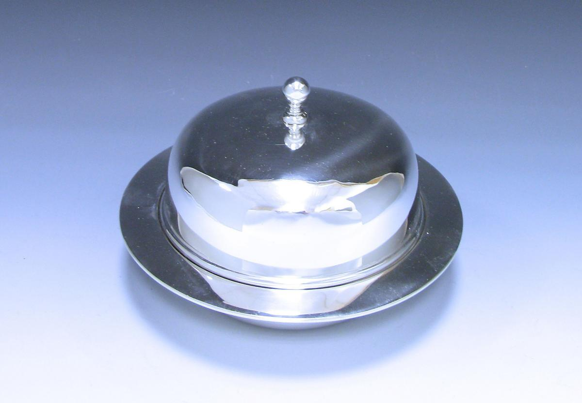 Antique Silver Muffin Dish/ Butter Dish