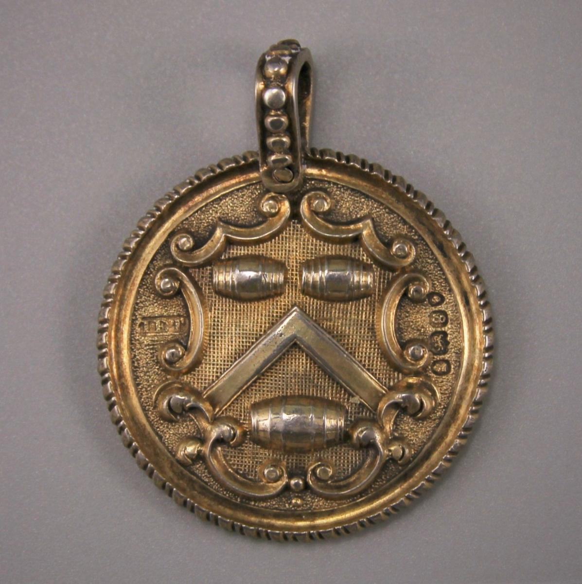GEORGE IV Vintners' Company Silver Gilt Livery Medal. London 1822