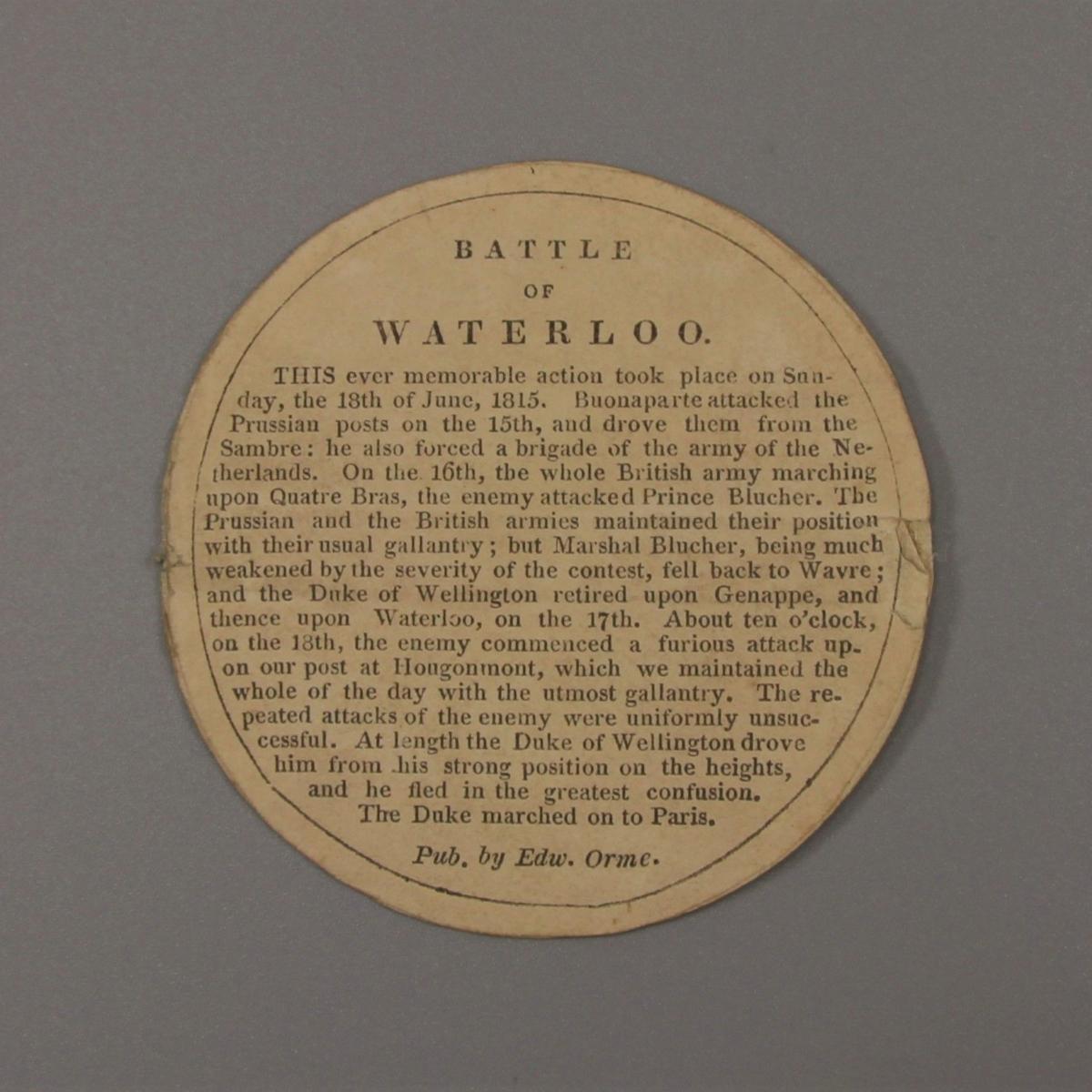 GEORGE III VICTORIES OF THE PENINSULAR WAR Bronze Box Medal.