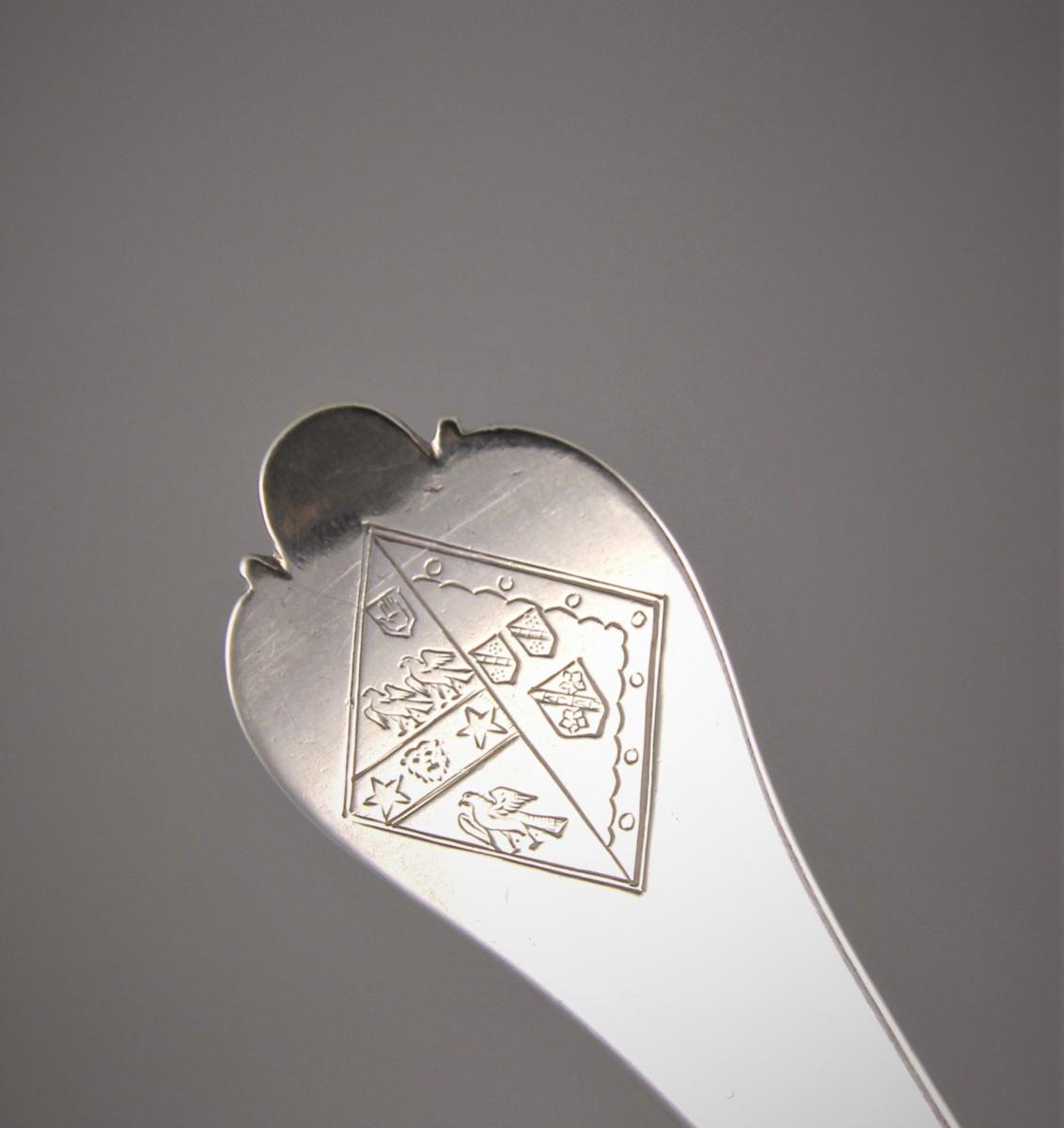 WILLIAM & MARY Trefid Spoon by Lawrence Jones. London 1694.