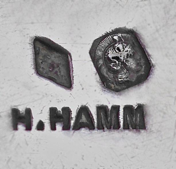 HENRI HAMM 1871-1961 Art Nouveau Silver Box