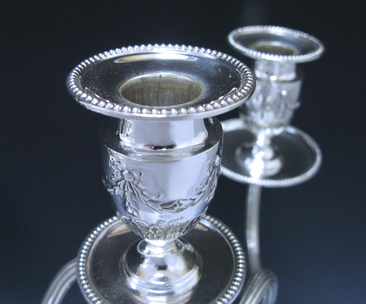 Pair of Victorian Antique Sterling Silver Candelabra