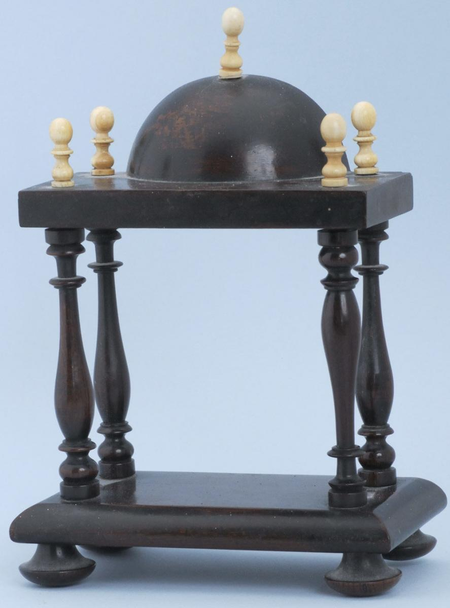 Rosewood and Ivory Watch Stand
