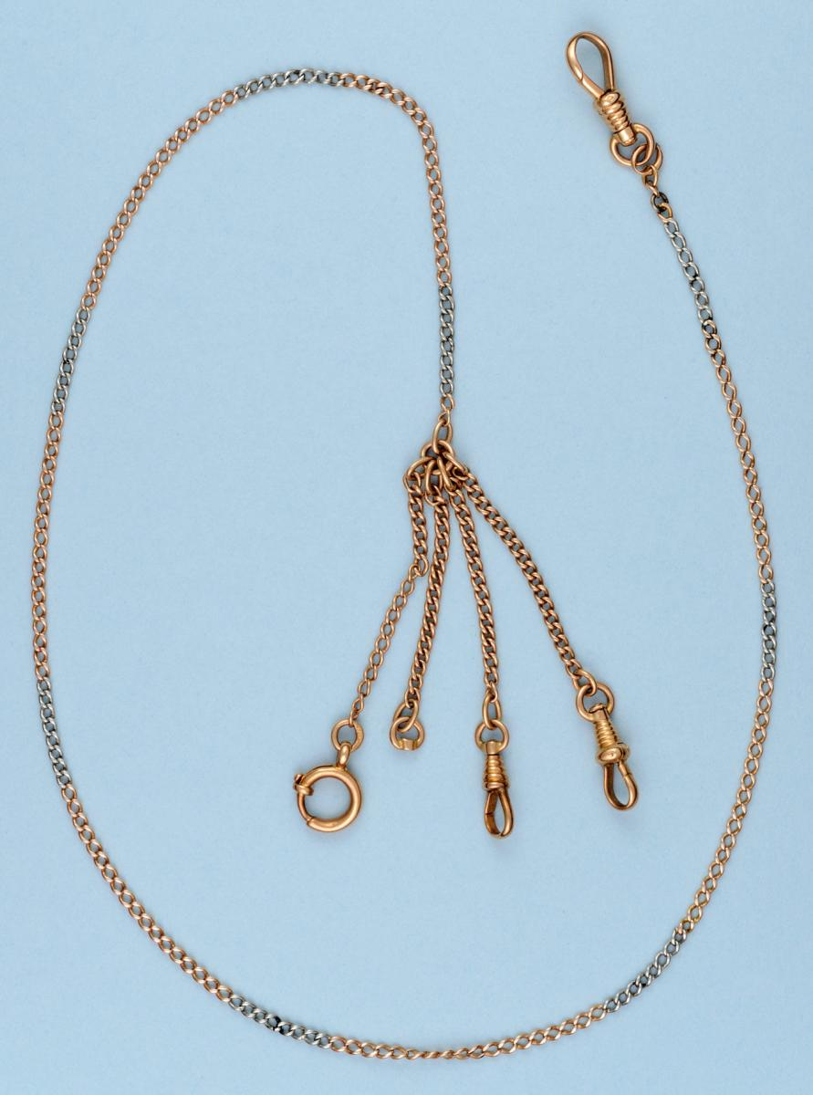Fine Yellow and White Gold Chain