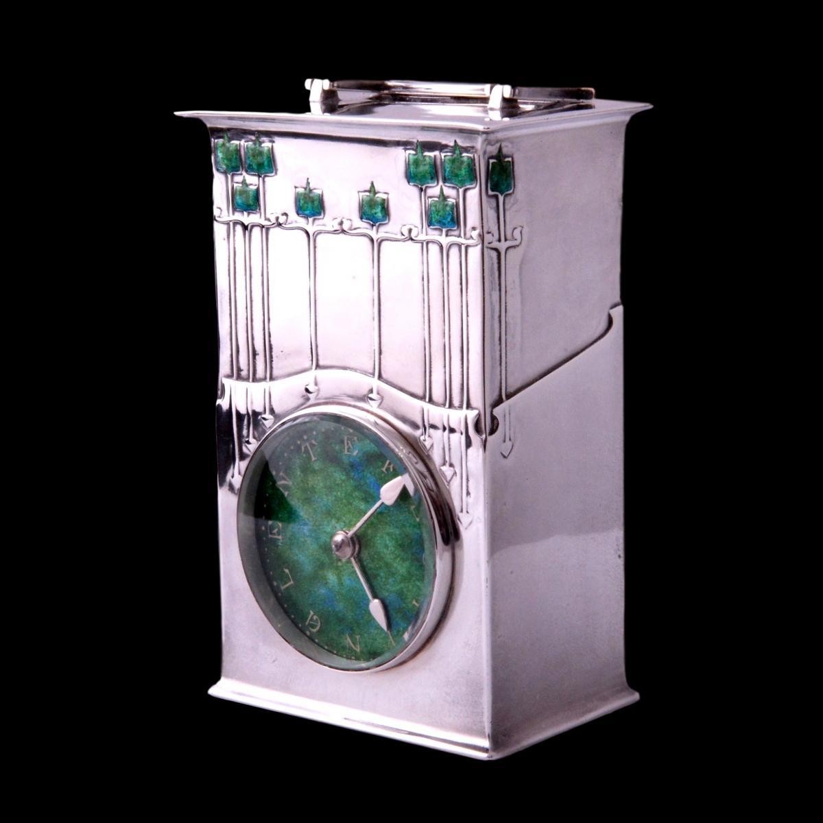 Archibald Knox Magnus Liberty Cymric clock