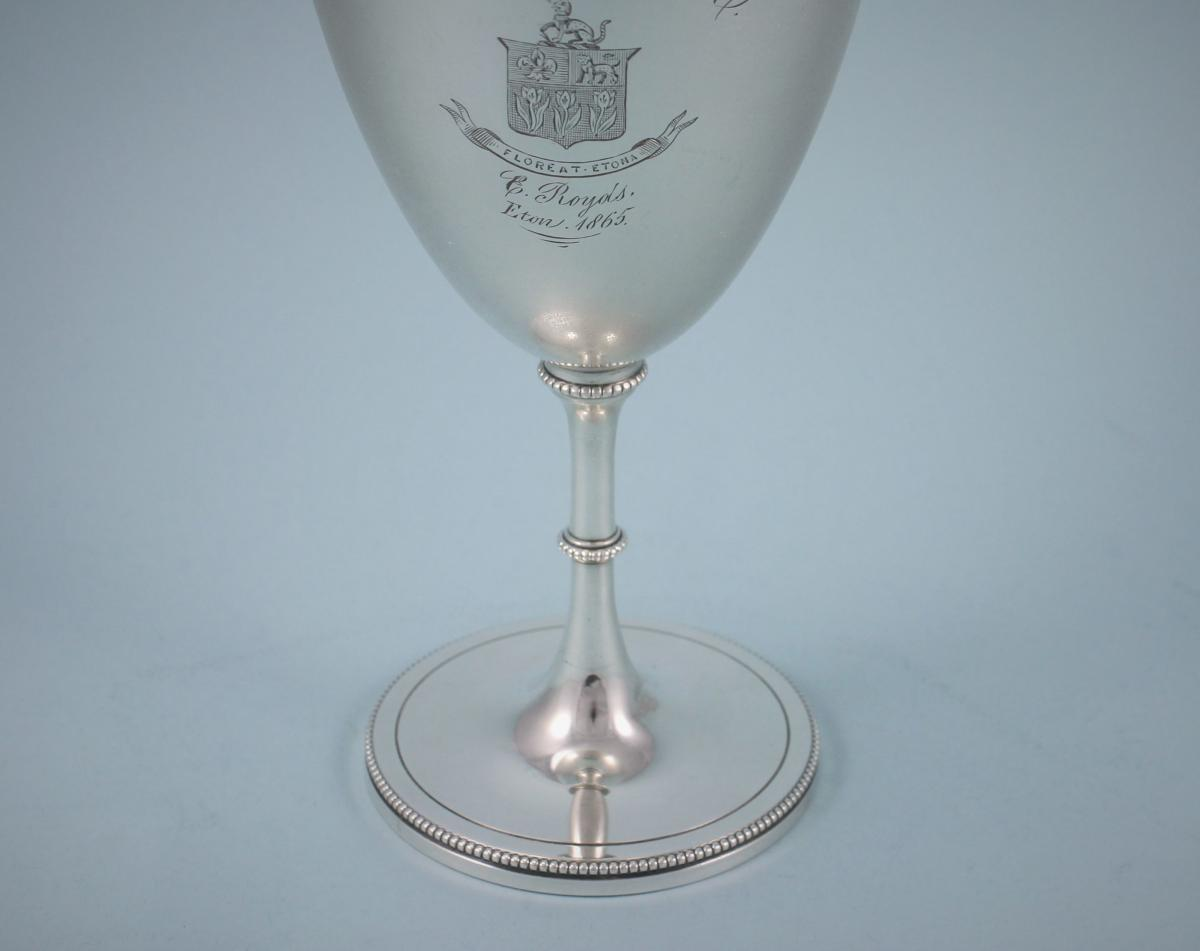 VICTORIAN Eton College Sterling Silver Goblet by Daniel & Charles Houle. London 1864