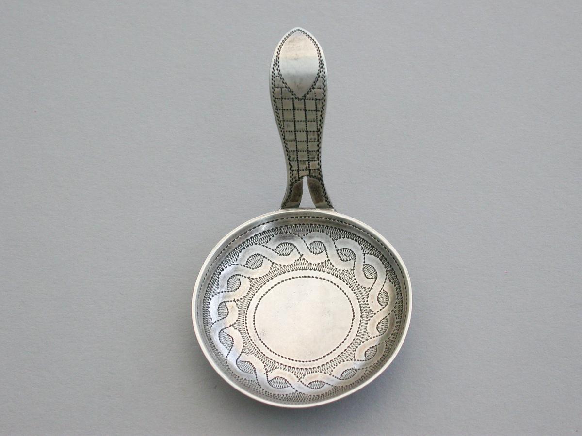 George III Silver 'Frying Pan' Caddy Spoon