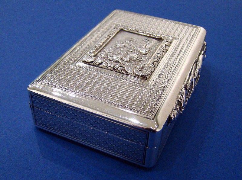 A Rare George IV Silver Snuff Box