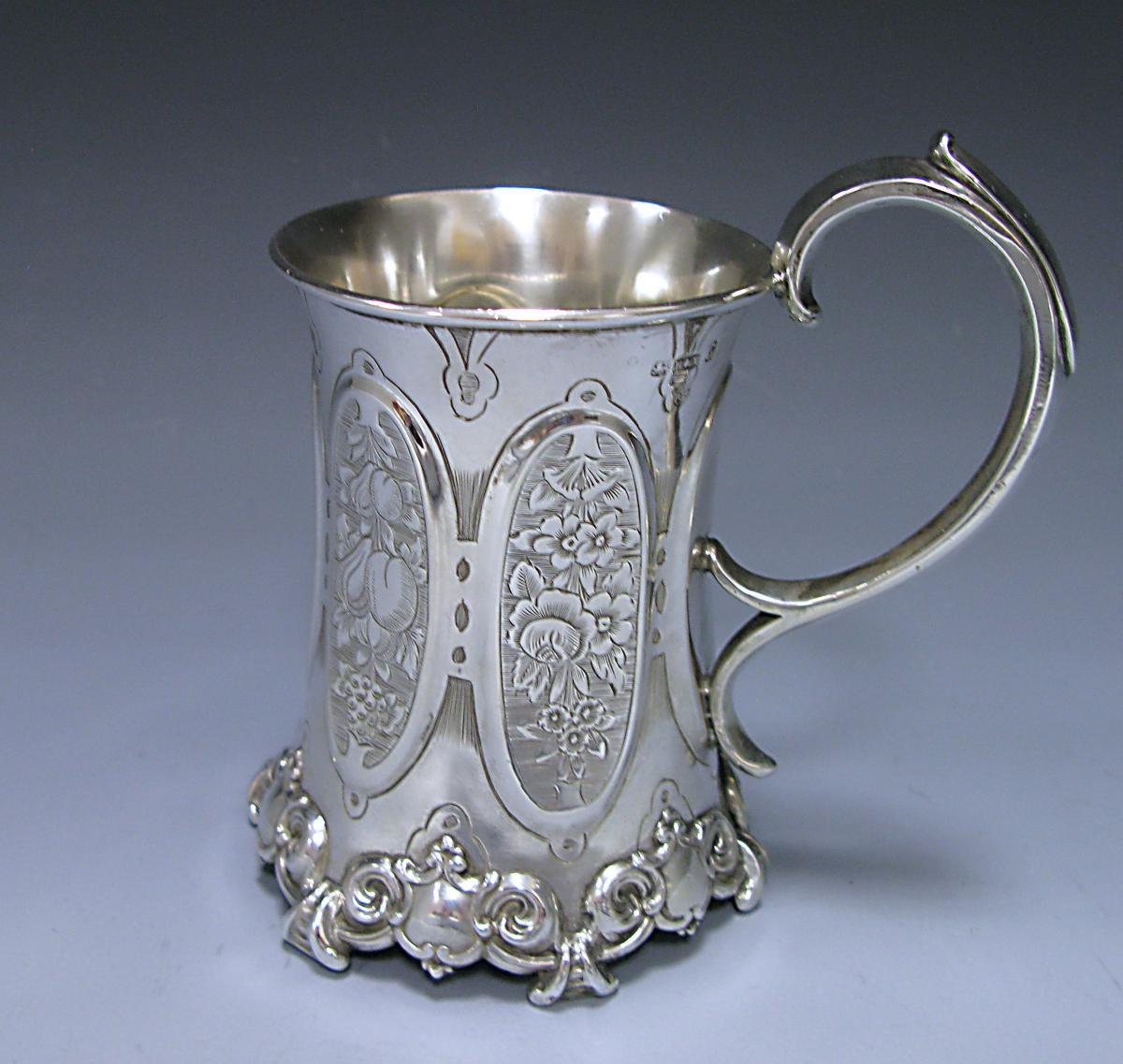 A Victorian Antique Sterling Silver Christening Mug