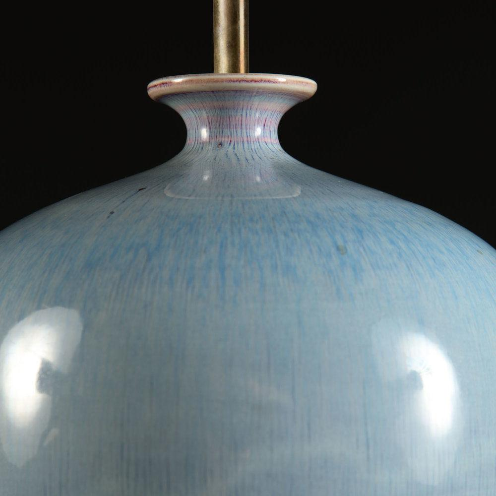 A Blue Glaze Mei Ping Vase as a Lamp