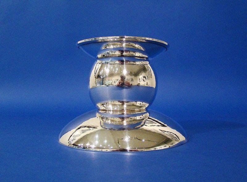 German Arts & Crafts .835 Standard Silver Candle Holder