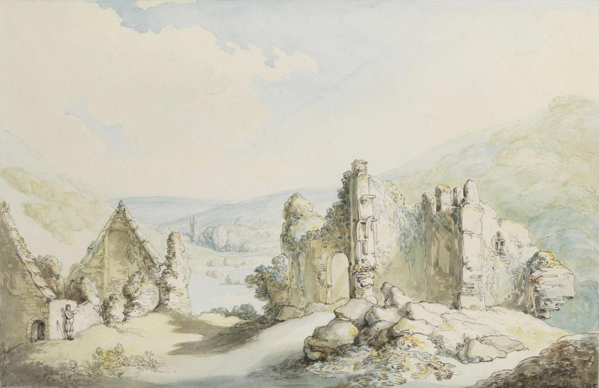 Oakhampton Castle, Thomas Rowlandson (1756-1827)