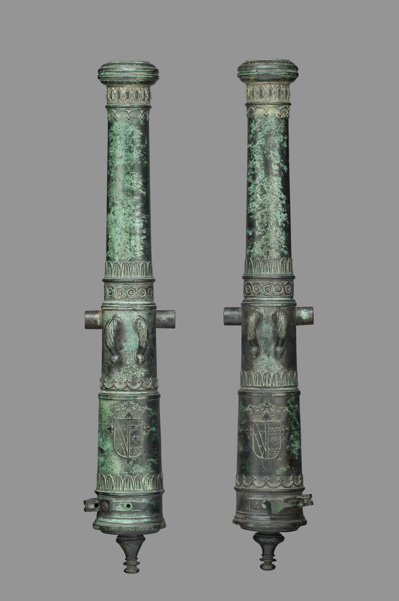 A Pair of Spanish Bronze Cannon Barrels, c. 1600
