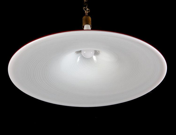 A White Murano Glass Hanging Light