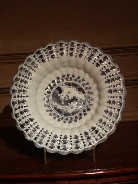 A rare, early-18th century, European, fluted dish