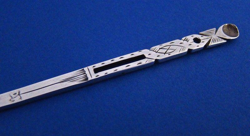 17th Century Silver Bodkin