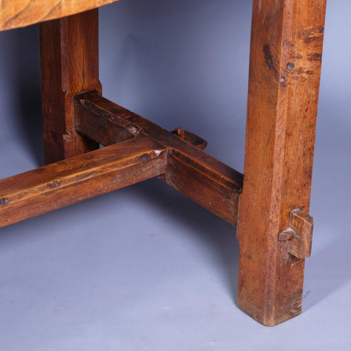 19th Century French Elm Refectory Table
