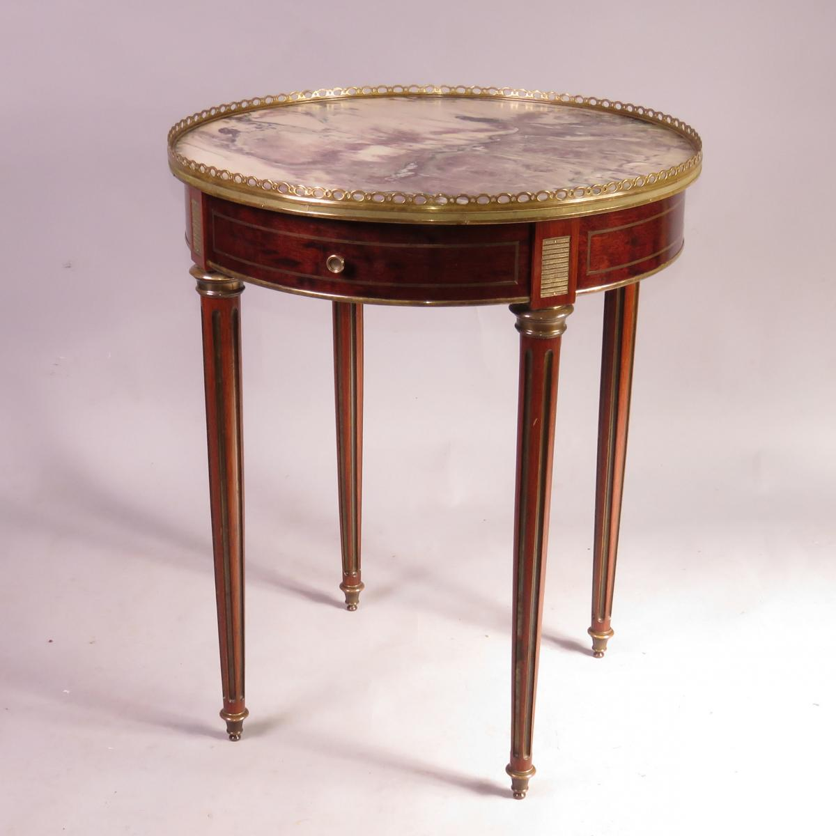 Late 19th Century Marble Topped Bouilotte Table
