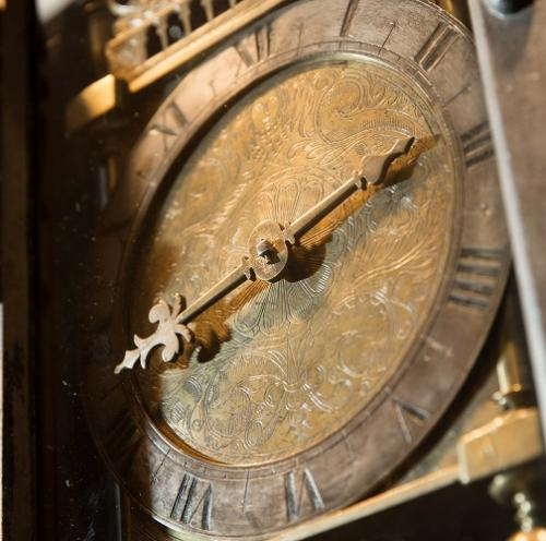 Detail of an antique clock face