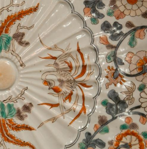 Detail of an antique porcelain plate