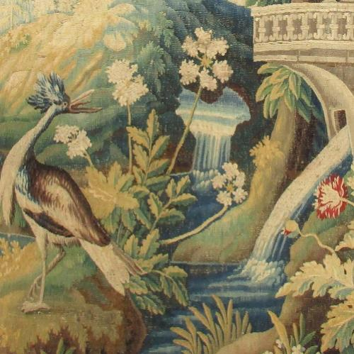 Detail of an 18th century french tapestry