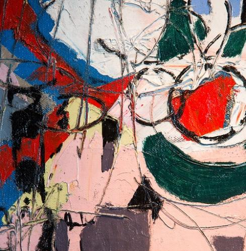 Detail of a contemporary abstract oil painting
